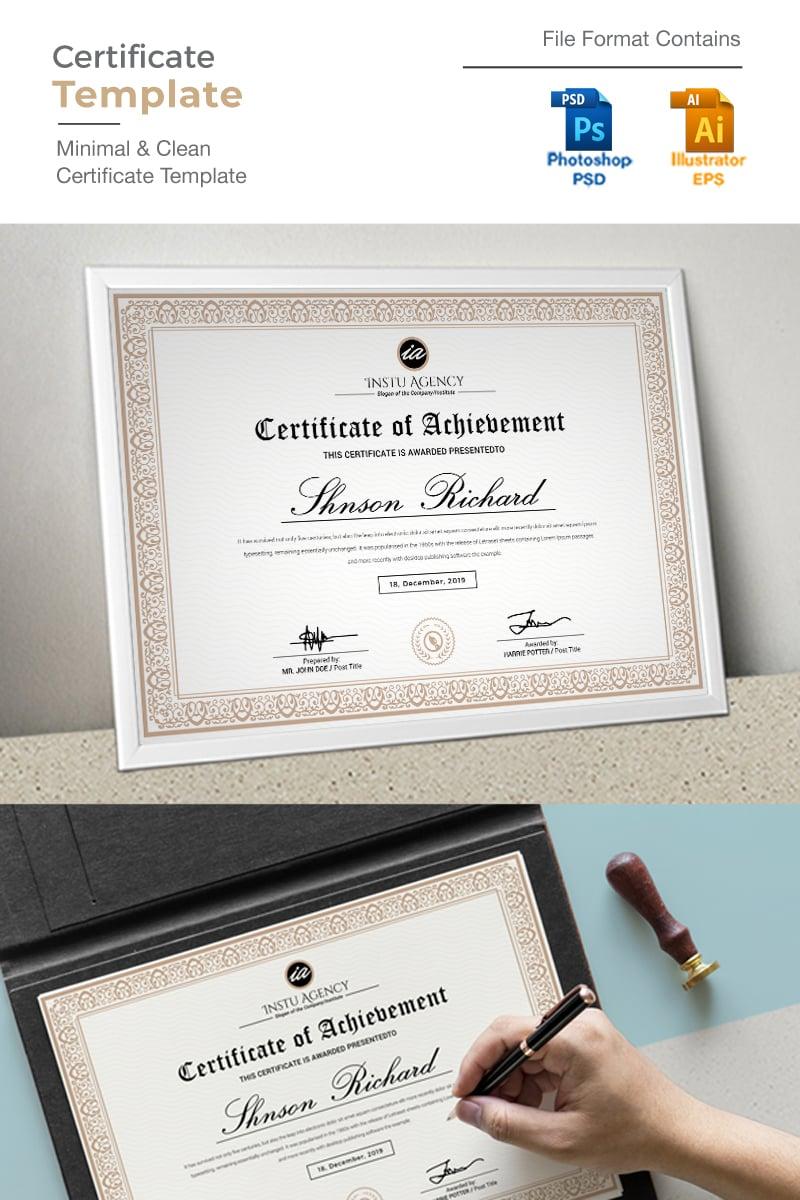 """Golden"" Certificate Template №92350"