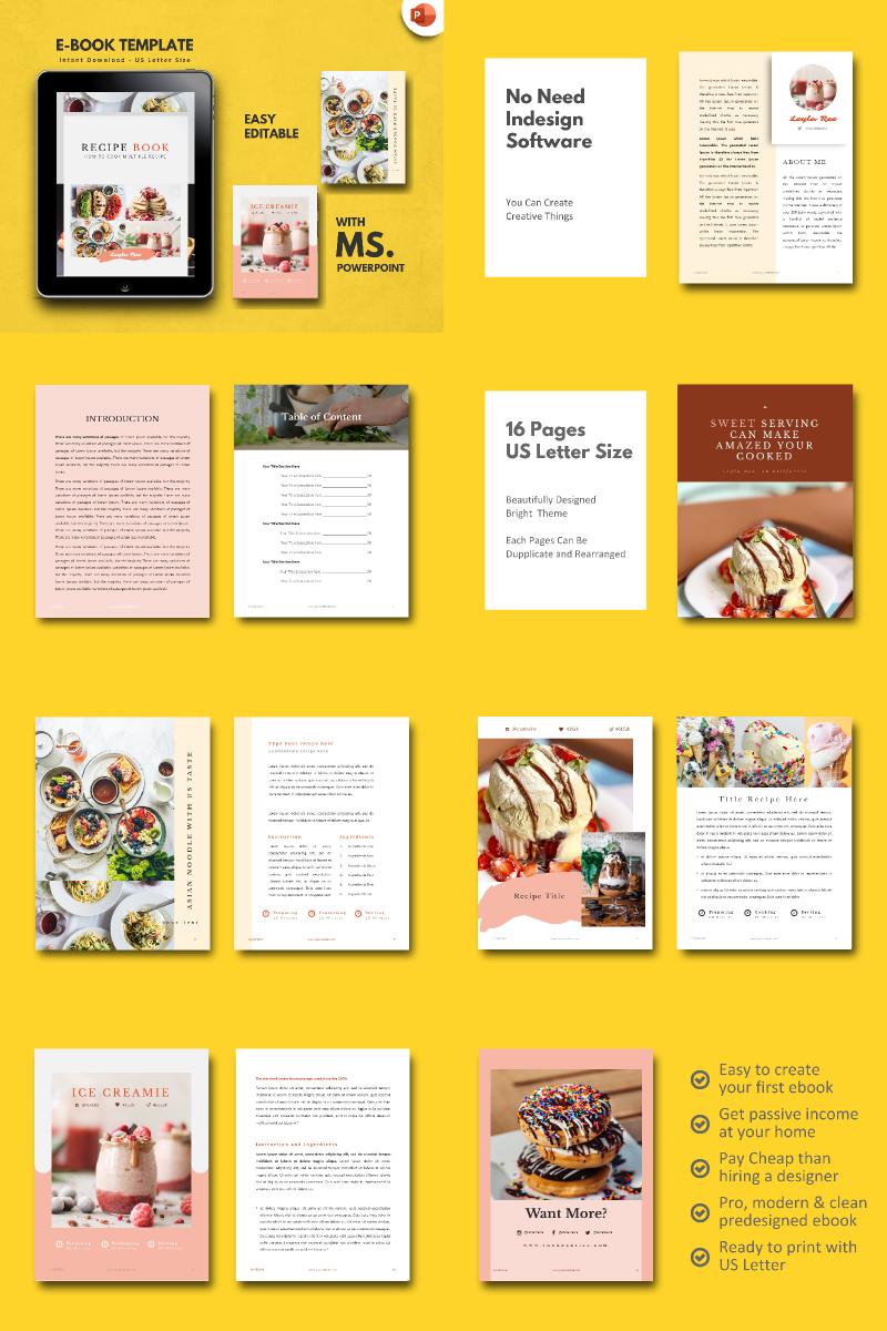 Minimal Recipe Presentation PowerPoint Template