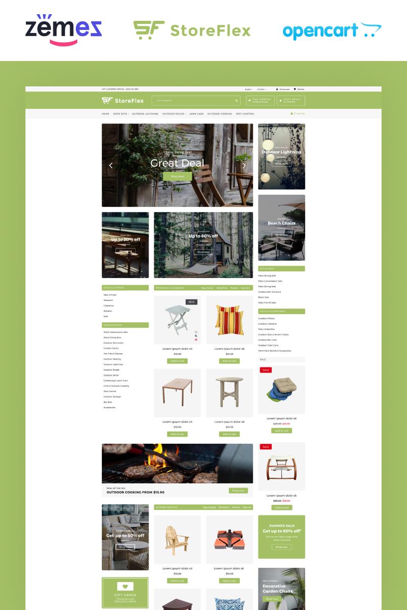 """Plantilla OpenCart """"StoreFlex Garden Store Template"""" #92322"""