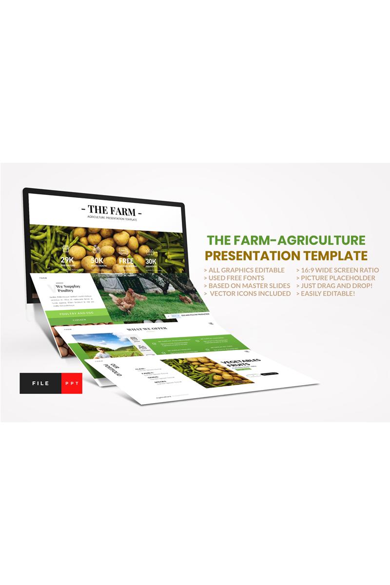 "Plantilla PowerPoint ""Farm - Agriculture"" #92308"