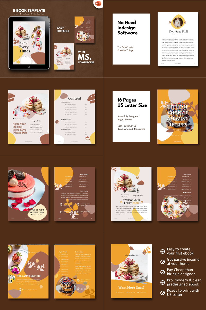 Recipe Food PowerPoint Template