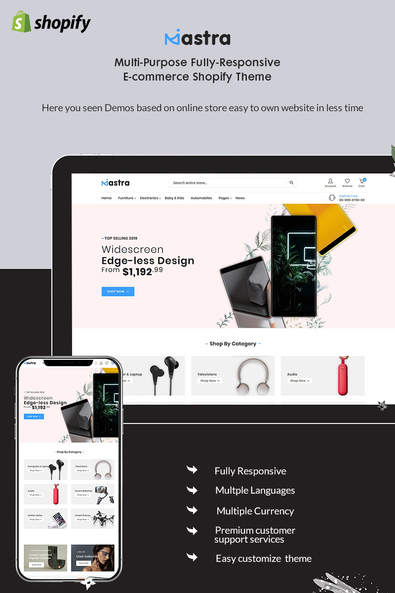"Shopify Theme namens ""Mastra - The Responsive Multistore"" #92360"