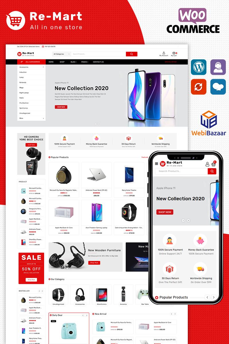 "Tema WooCommerce Responsive #92355 ""Remart electronics responsive"""