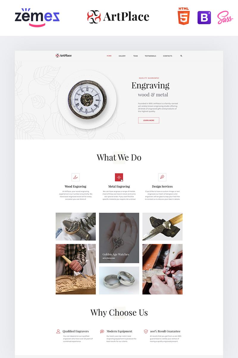 ArtPlace - Engraving Studio Landing Page Template