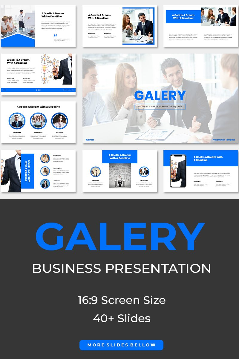 Galery Business PowerPoint Template - screenshot