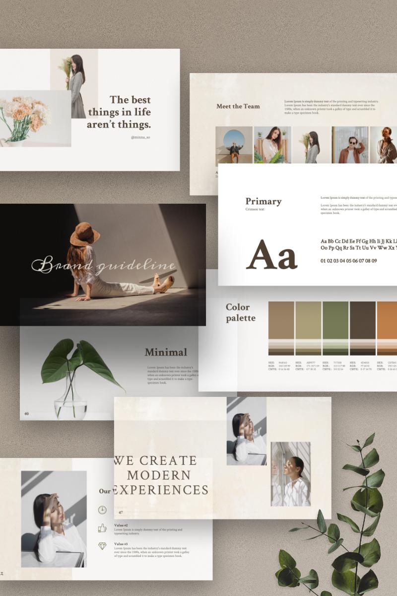 MERYLIN - Brand Guidlines PowerPoint Template - screenshot
