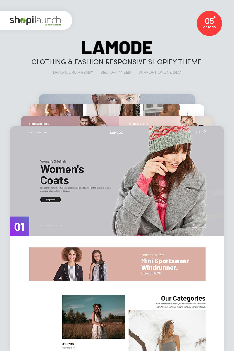 Lamode - Clothing & Fashion Responsive Shopify Theme