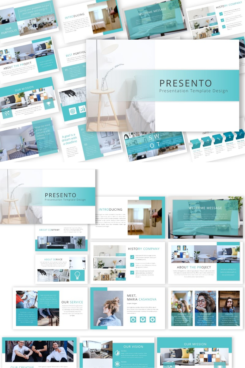 "Plantilla PowerPoint ""Presento"" #92563"