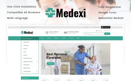 Medexi - Medical Store OpenCart Template