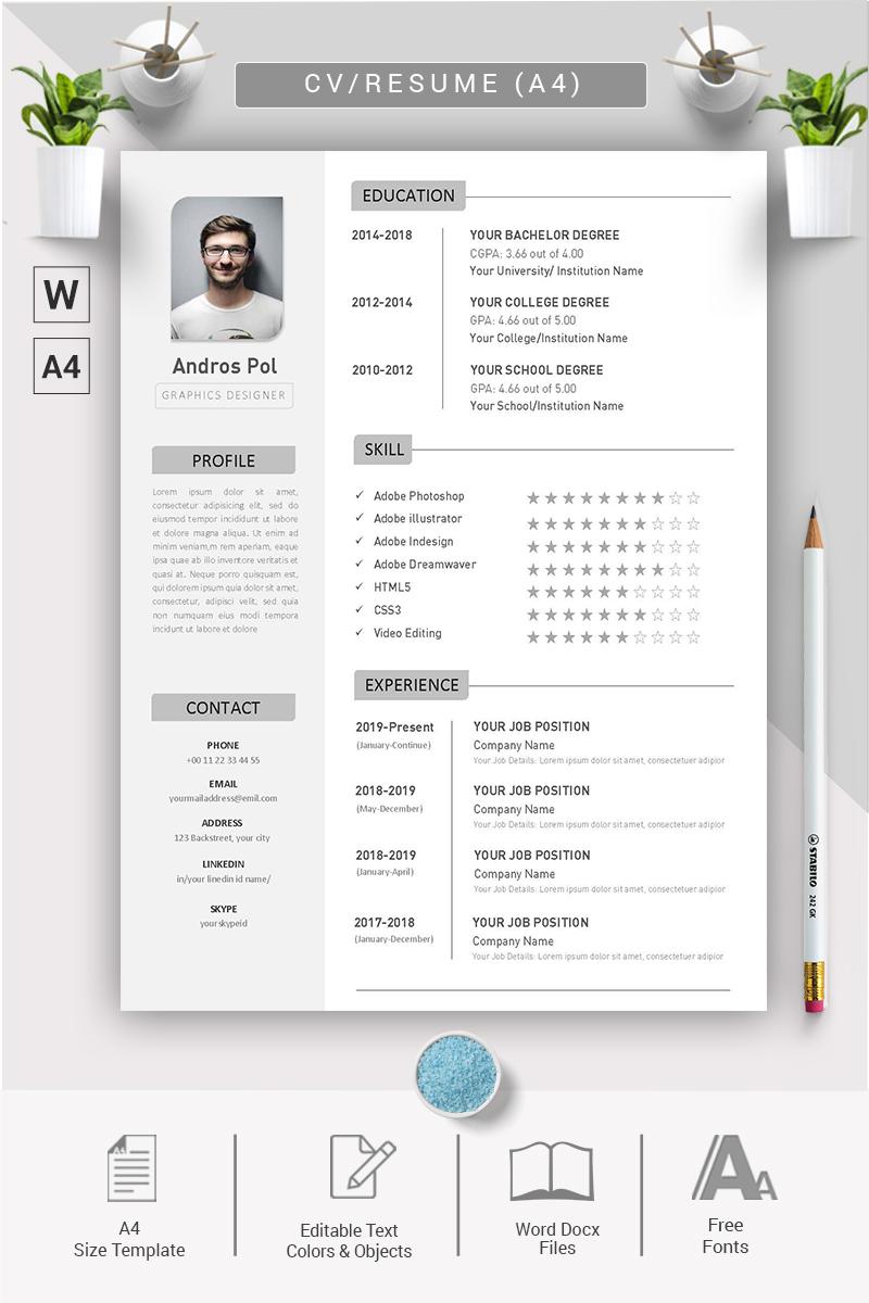 Andros Pol – CV & Resume Template - screenshot