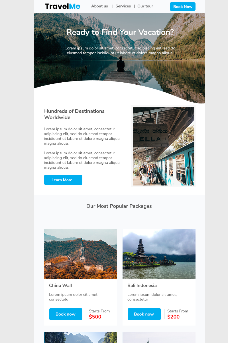 "Newsletter šablona ""Travel Me"" #92612"