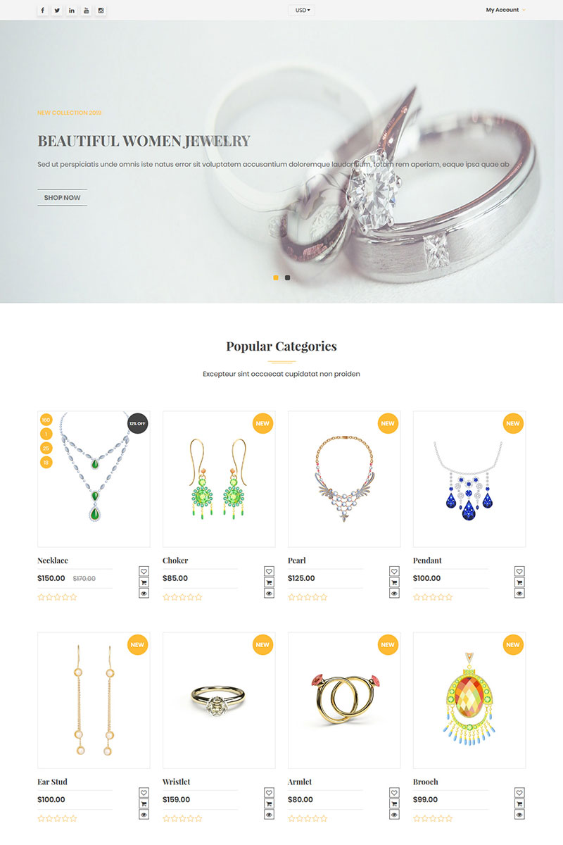 Venusjewelers - Multipurpose Dropshipping Shopify Theme