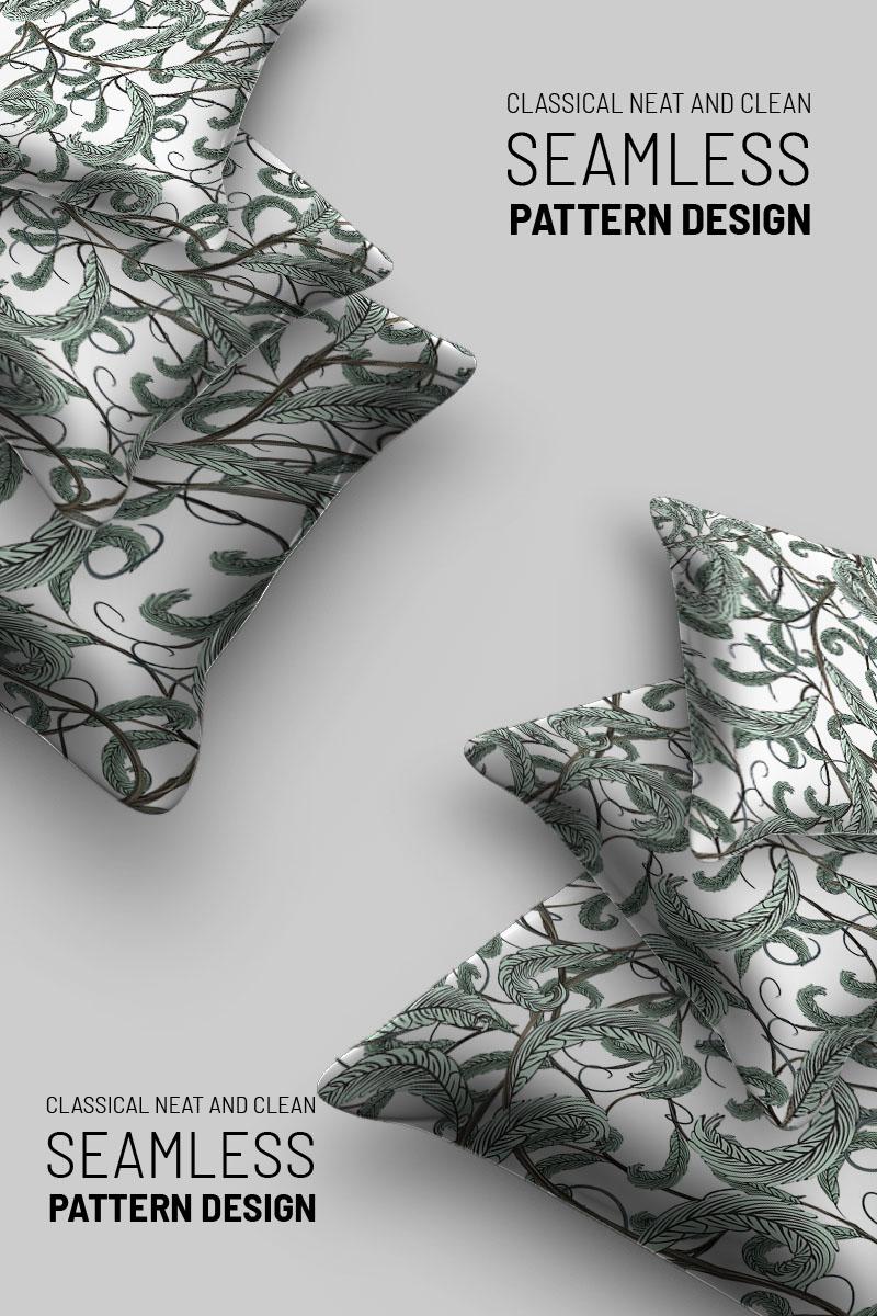 """Abstract  floral seamless design"" Pattern №92725 - screenshot"