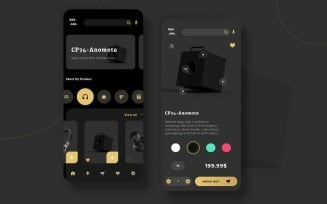 Electronic Market UI PP Sketch Template