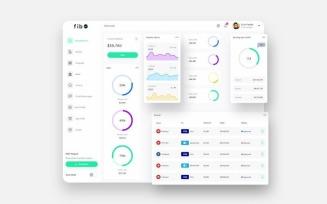 fib Finance Dashboard Ui Light Sketch Template