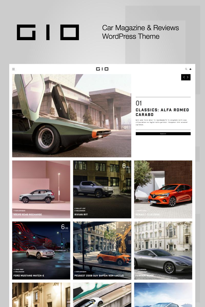 """GIO - Car Magazine"" Responsive WordPress thema №92771"