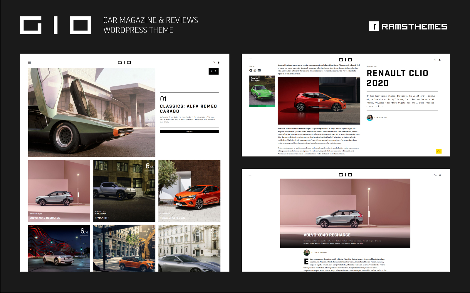 GIO - Car Magazine WordPress Theme