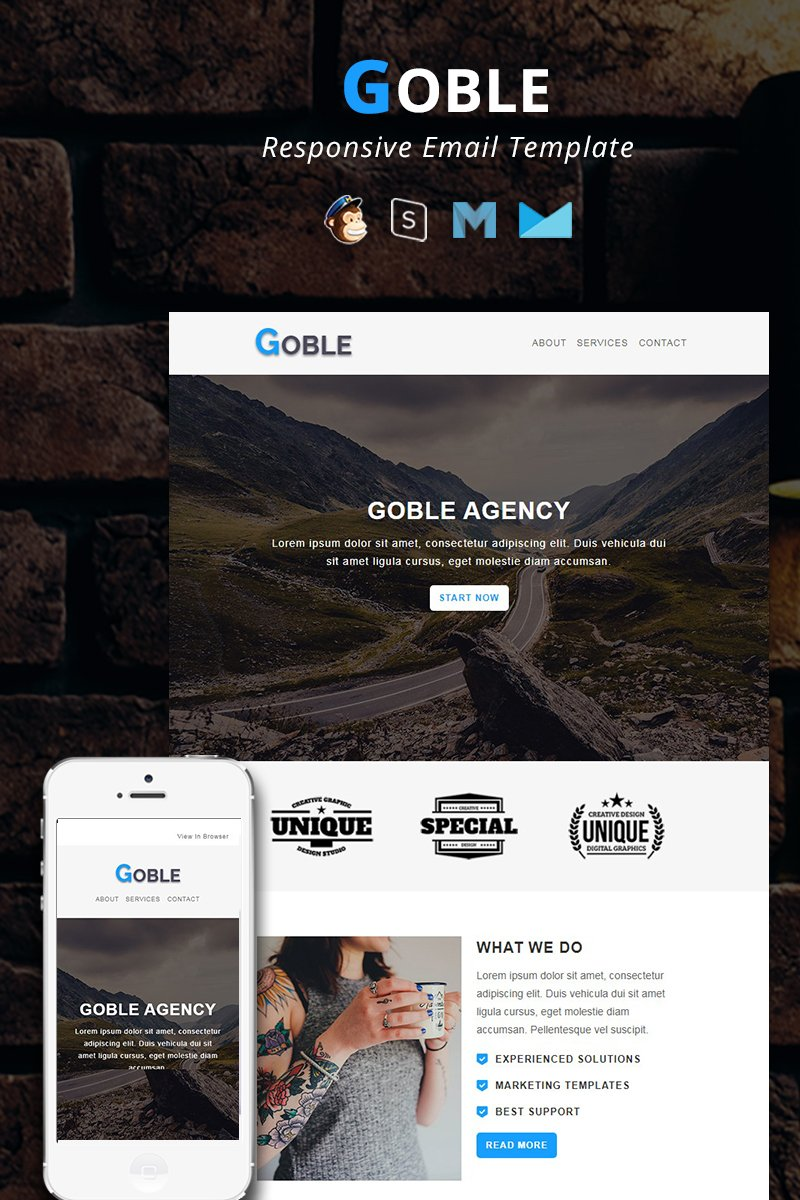 GOBLE - Corporate Responsive Email Newsletter Template