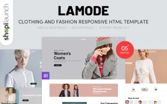 Lamode - Clothing & Fashion Responsive Website Template