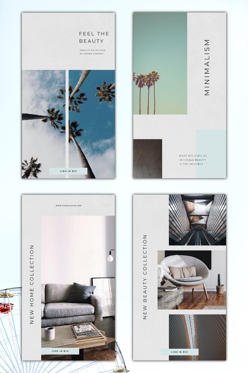 """Instagram Minimalism Template"" - Шаблон для соцмереж №92842 - скріншот"