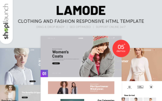Lamode - Clothing & Fashion Responsive Website Template