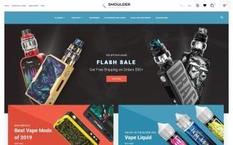 Smoulder - E-cigarette Website Design PrestaShop Theme