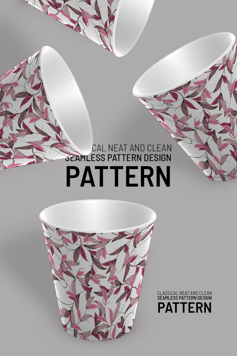 Classic floral branches and flowers seamless design Pattern #92923 - Ekran resmi