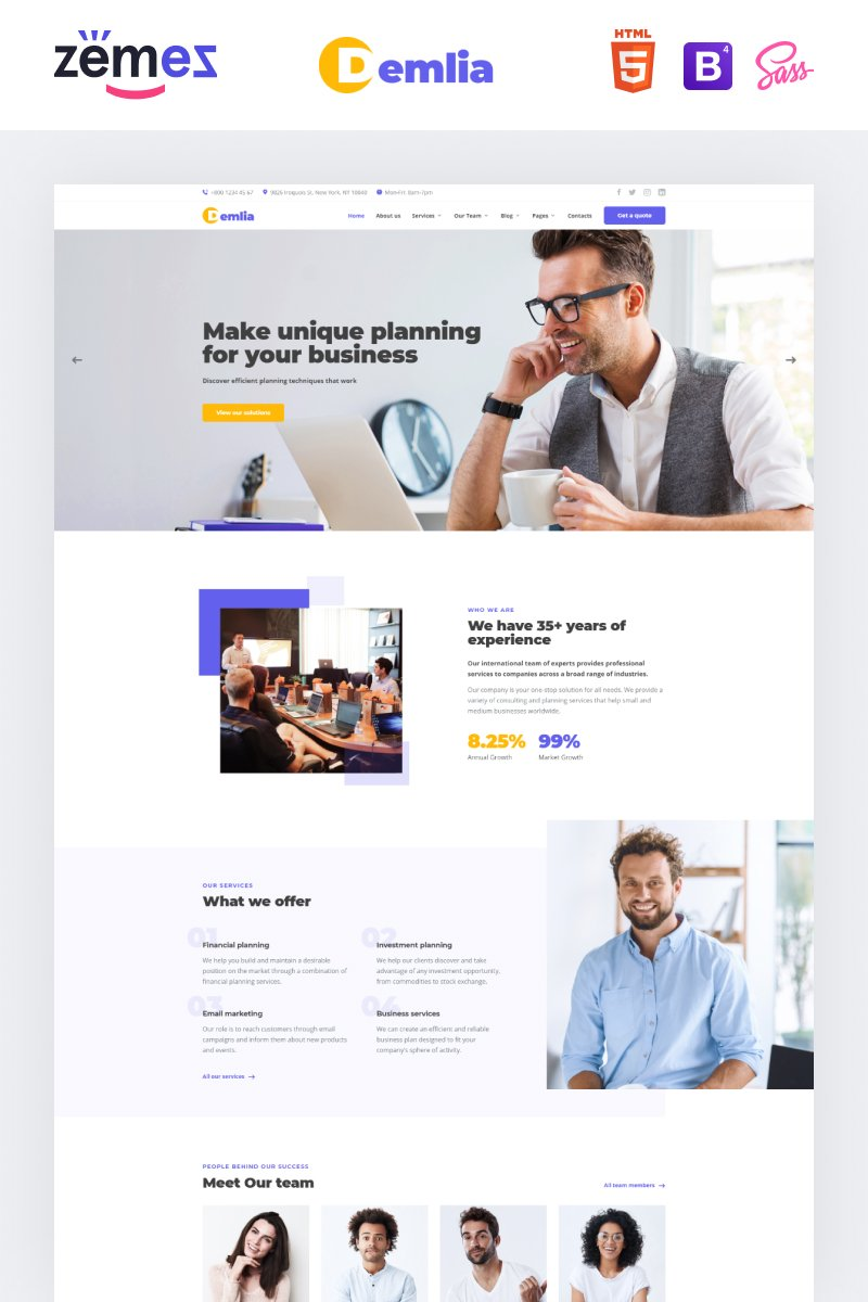 Demlia - Business Consulting Website Template - screenshot