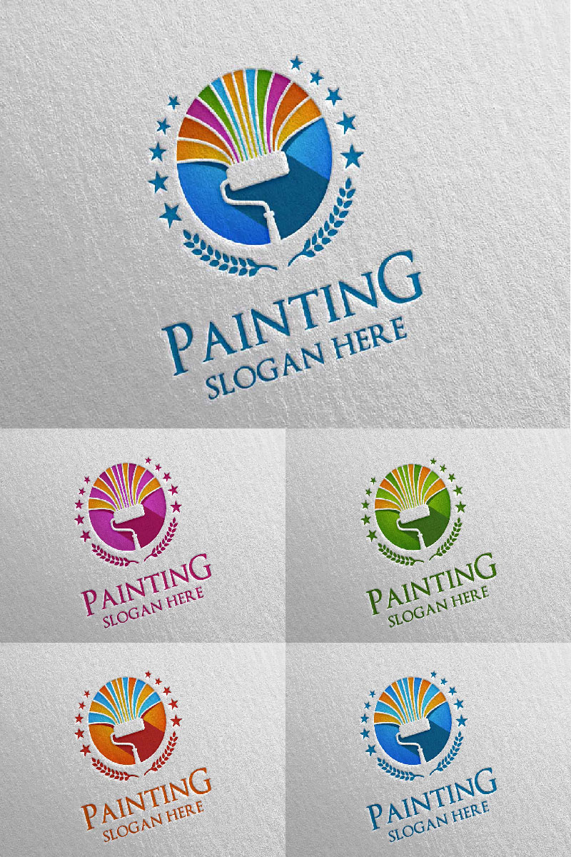 Home Painting Vector 6 Logo Template - screenshot