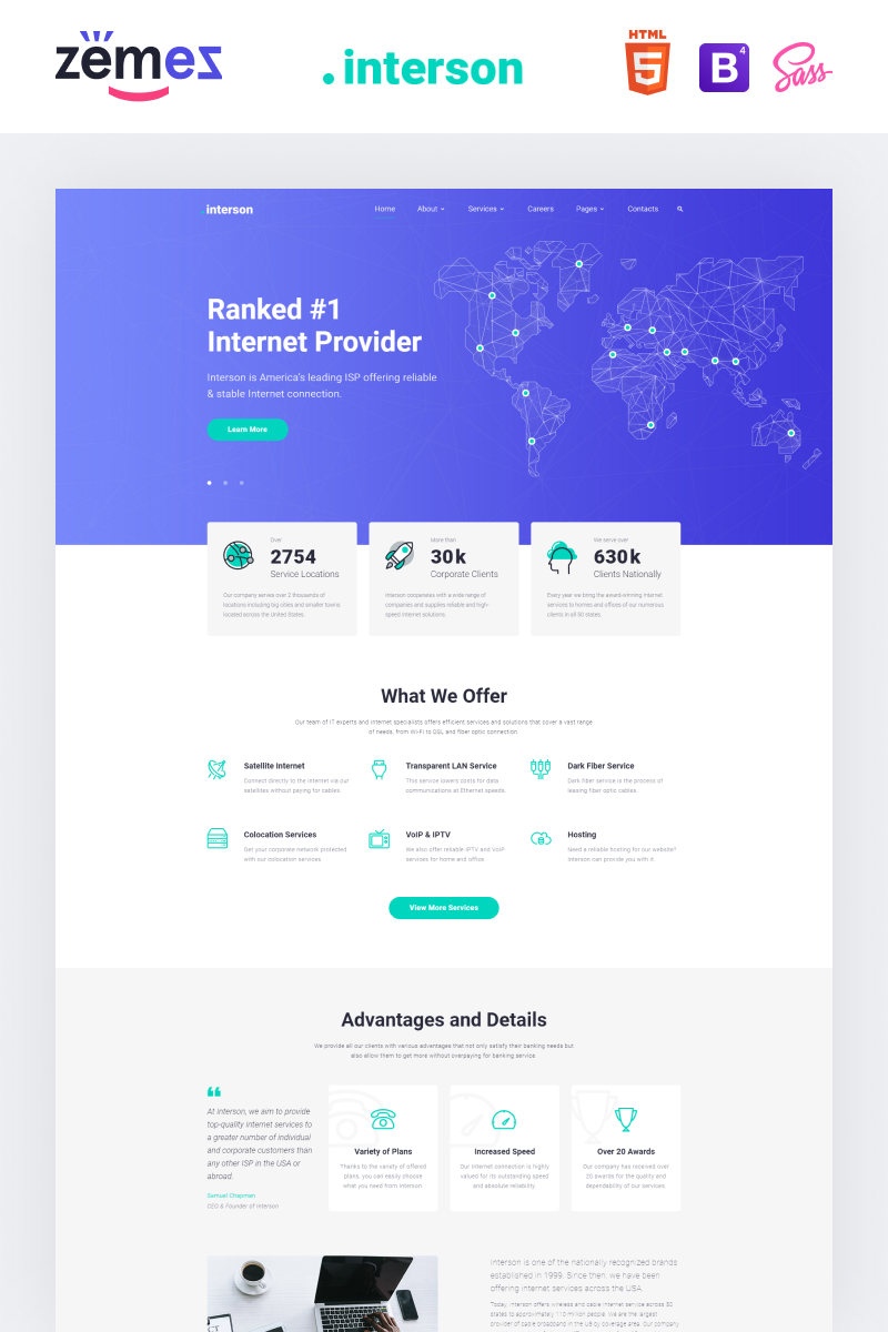 .interson - Internet Clean HTML Website Template - screenshot