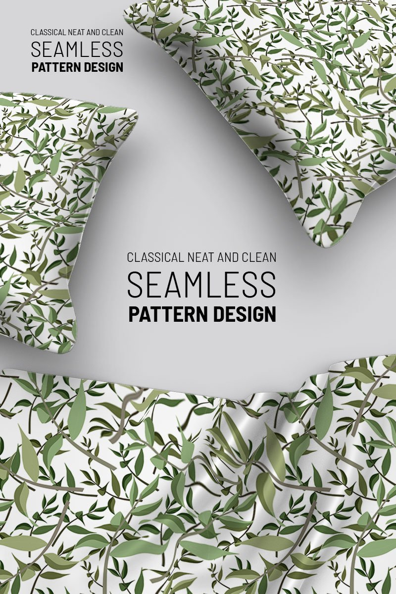 Leaves and branches seamless design Pattern №92914 - captura de tela
