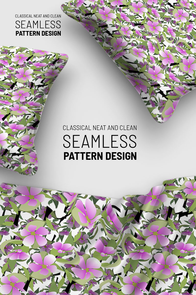 """Modello Pattern #92918 """"Floral abstract flower on branches with leaves"""" - screenshot"""