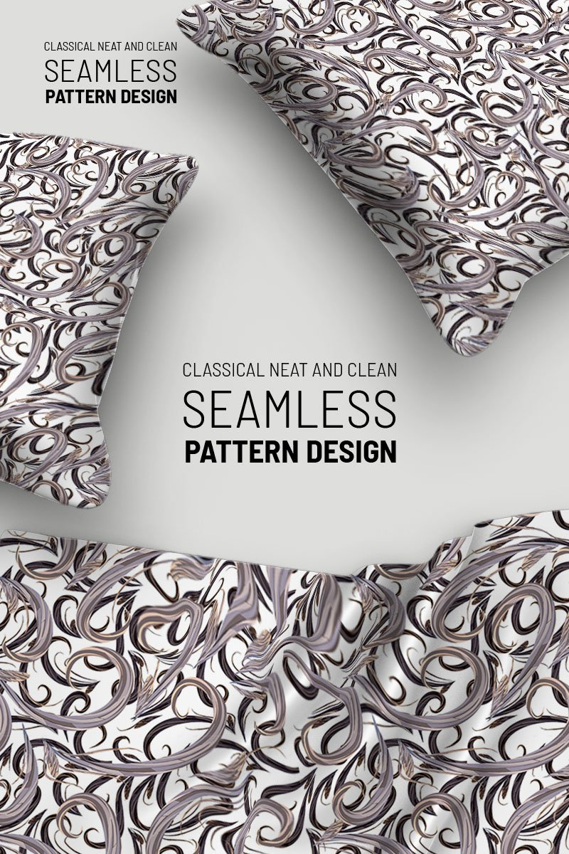 "Pattern namens ""Classic flowers and branches seamless design"" #92922 - Screenshot"