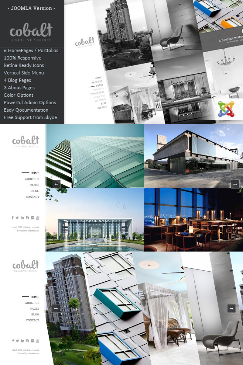 "Plantilla Joomla ""Cobalt - Responsive Architect & Creatives"" #92993"