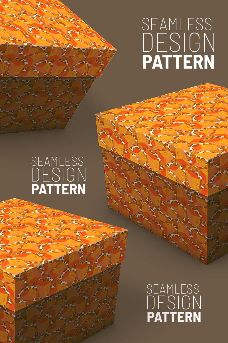 Randomly scattered bricks seamless design Pattern №92954 - screenshot