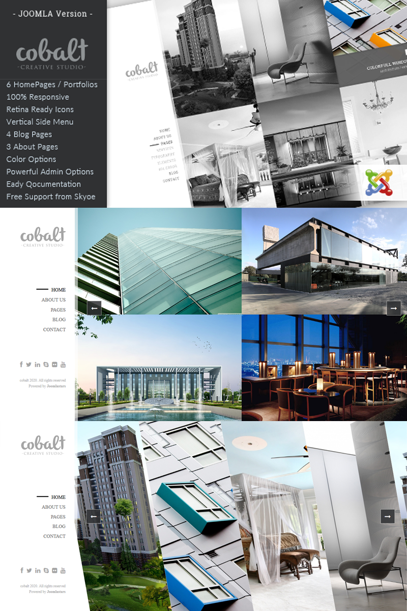 Responsive Cobalt - Responsive Architect & Creatives Joomla #92993 - Ekran resmi