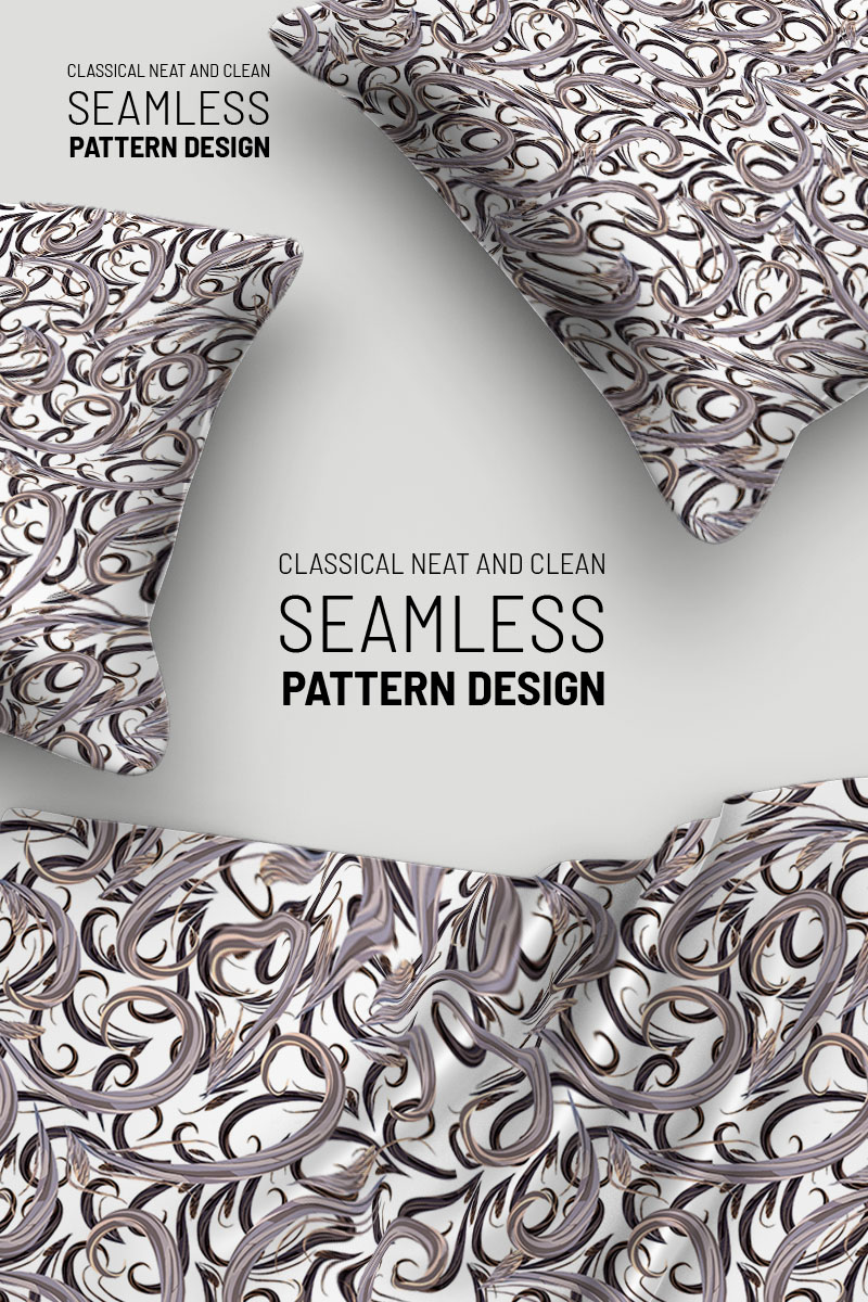 "Tema Pattern #92922 ""Classic flowers and branches seamless design"" - screenshot"
