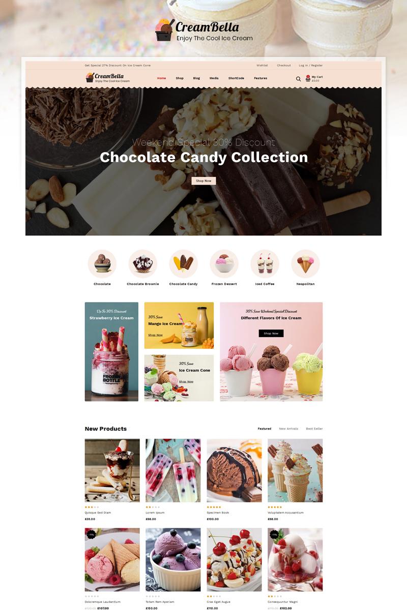 "Tema WooCommerce Responsive #92991 ""CreamBella IceCream Store"""