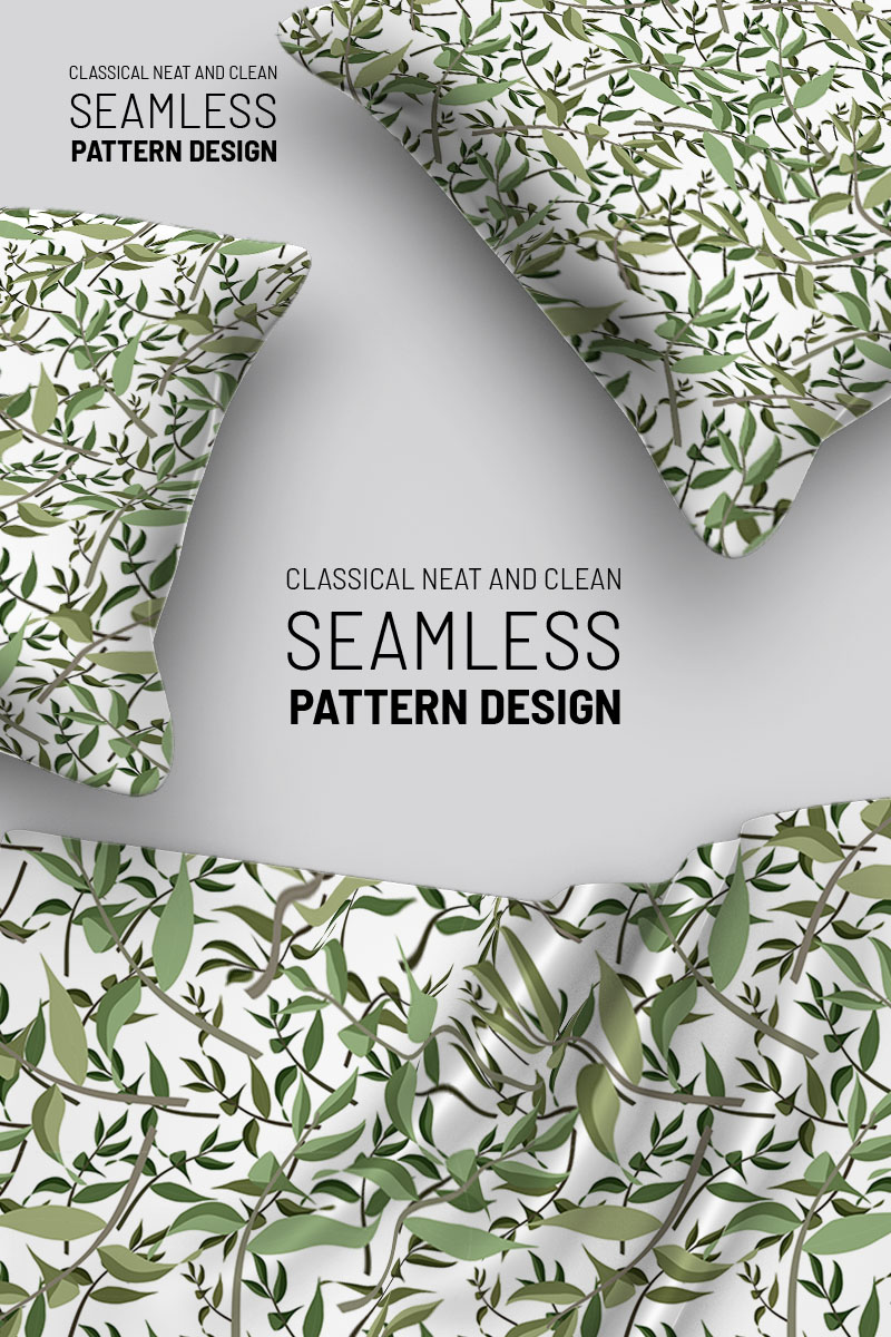 """Template Pattern #92914 """"Leaves and branches seamless design"""" - screenshot"""