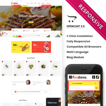 Купить  пофессиональные OpenCart шаблоны. Купить шаблон #93057 и создать сайт.