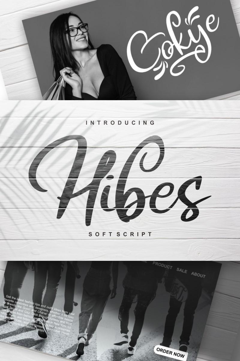 Hibes | Soft Script Font - screenshot