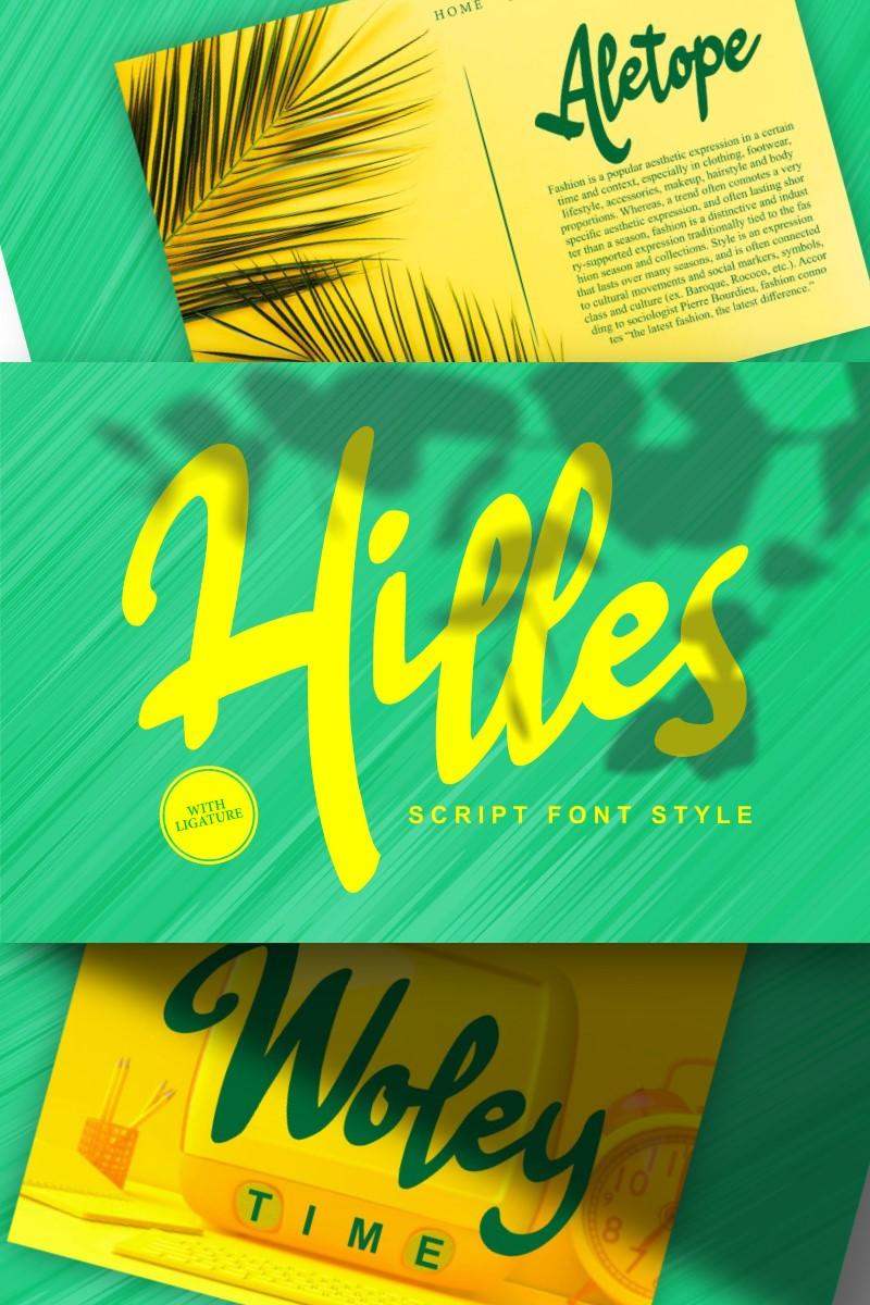 Hilles   Script Style Font - screenshot