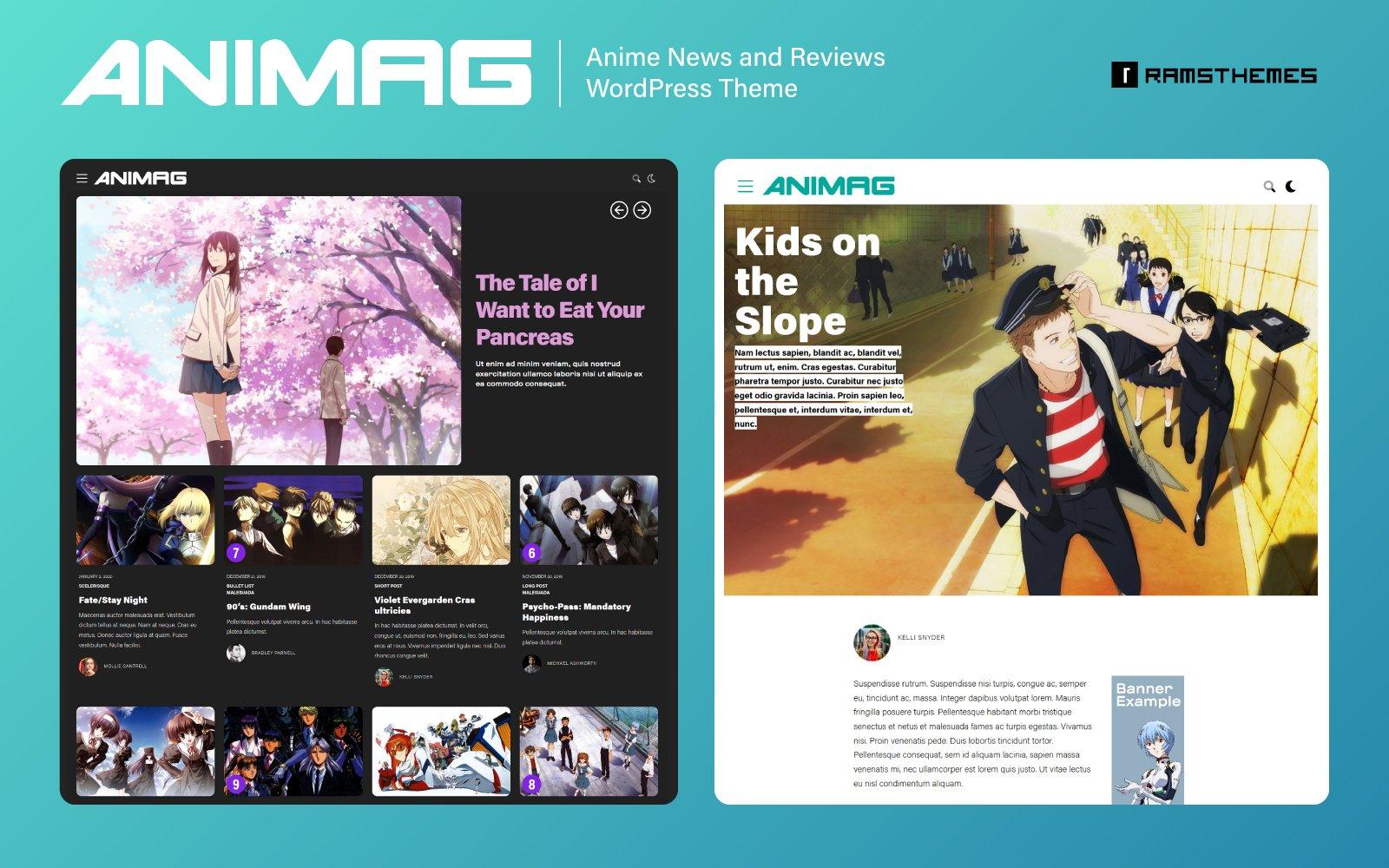 ANIMAG - Anime and Manga Magazine WordPress Theme