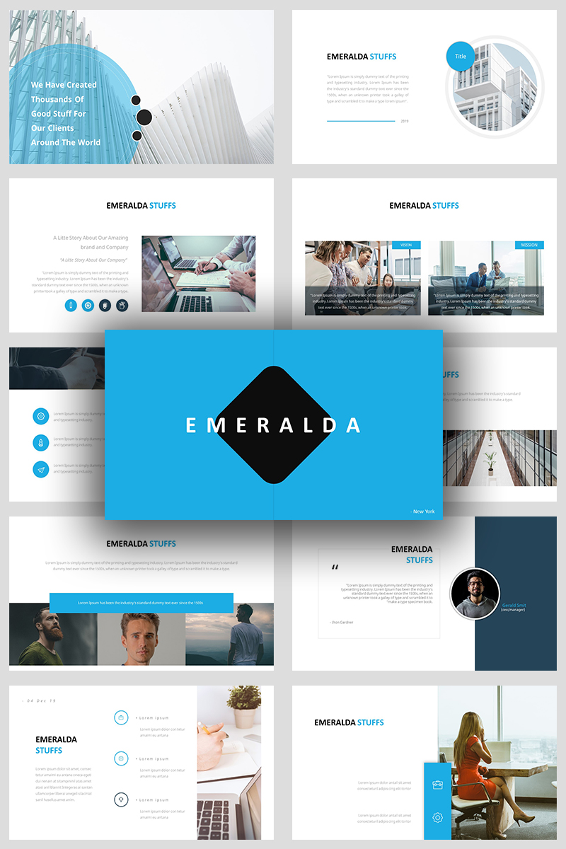 Emeralda Creative Business Template PowerPoint №93134