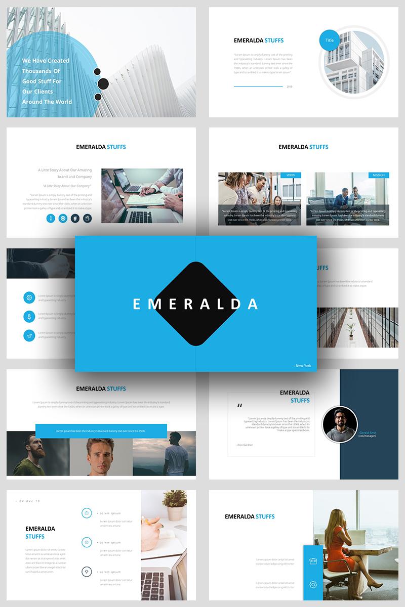 Emeralda Creative PowerPoint sablon 93134