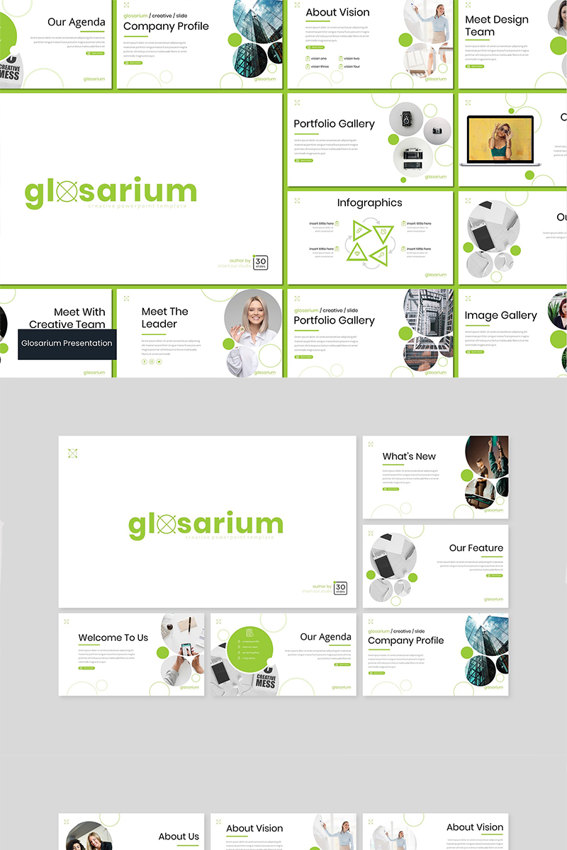 Glosarium PowerPoint Template - screenshot