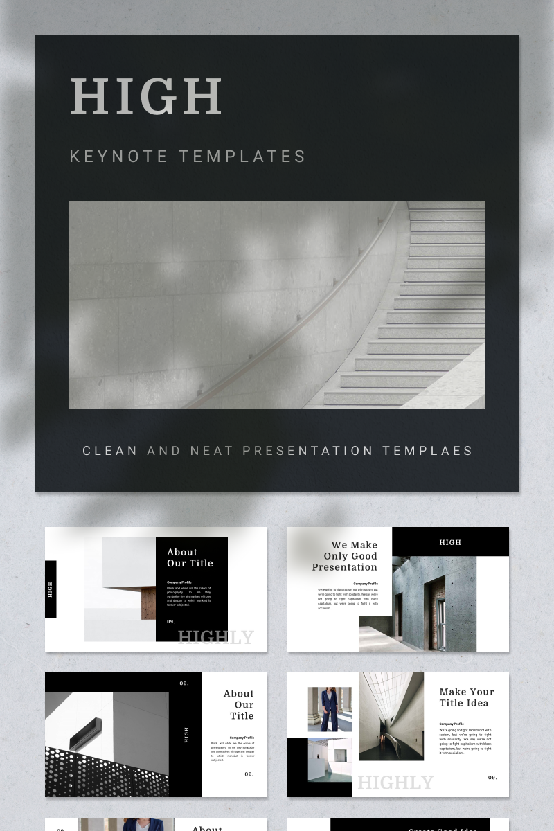 HIGH Keynote Template - screenshot