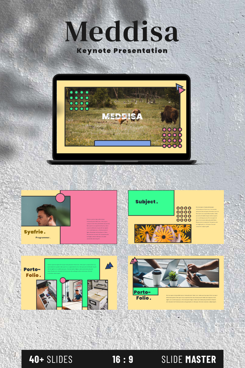 "Šablona pro Keynote ""Meddisa"" #93199 - screenshot"