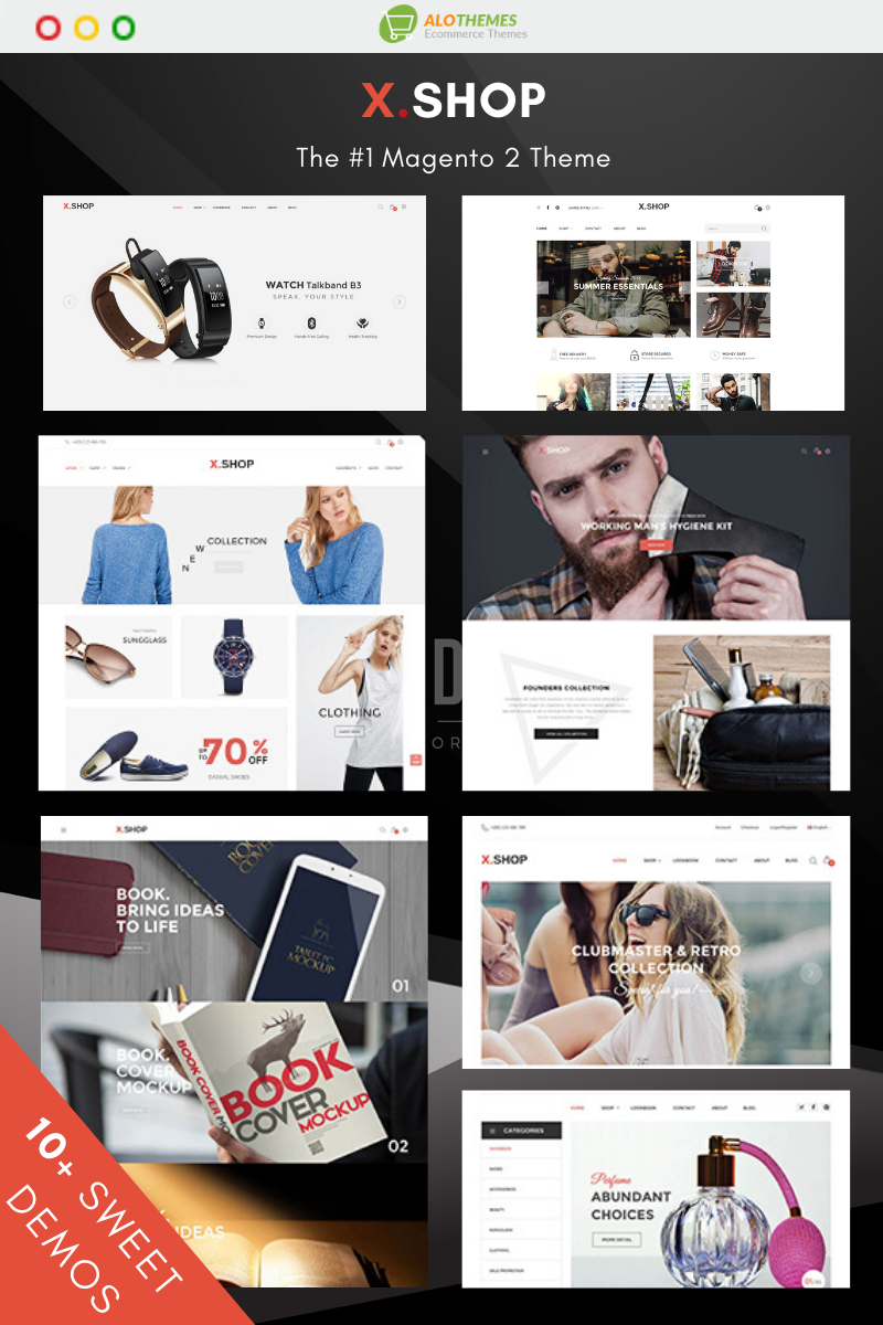 "Tema Magento ""Xshop - Multipurpose and Fully Responsive"" #93148"