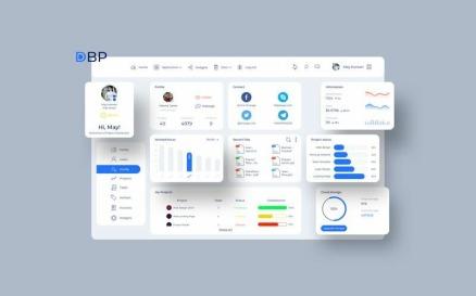 Project Profile Dashboard UI V2 Sketch Template
